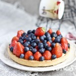 Тарт со свежими ягодами и заварным кремом
