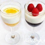 Panna Cotta and Raspberry, Orange Jelly Parfait