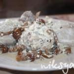 Курица в сырно-сливочном соусе с грибами