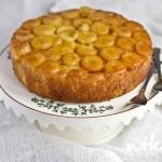 Перевернутый пирог с бананами и маракуйей