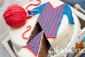 Вязанный торт
