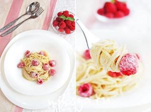 Спагетти с малиной - изысканный десерт от Алена Дюкасса