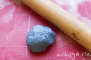 Черничное песочное тесто