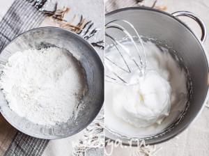 Сухие ингредиенты и яичные белки