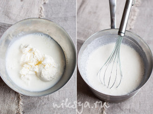 Молоко и крем-чиз
