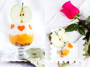 Мангово-яблочный трайфл