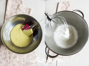 Фисташковое тесто и французская меренга