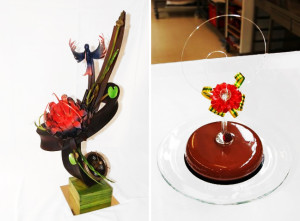 Chocolate statue and Entremets