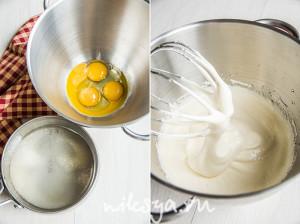 Правильно взбитая яичная масса