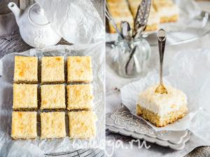Лимонно-кокосовый пирог с рикоттой