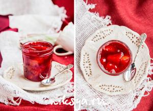 Варенье из кизила с грушей и ванилью