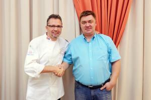 Мишель и Юрий, директор Кулинарной школы №1