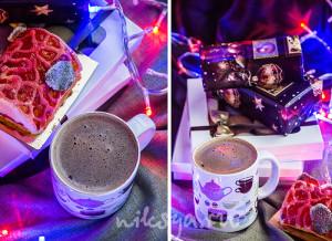 Горячий шоколадный напиток с кокосовым и миндальным молоком