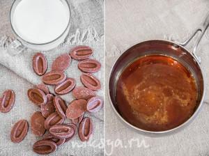Молочный шоколад и карамель