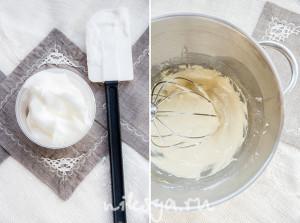 Взбитые белки и тесто