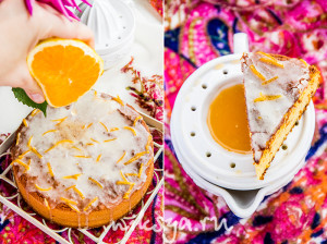 Апельсиново-миндальный кекс без муки