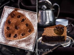 Шоколадный бархатный торт с черносливом