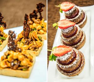 Ореховые тарталетки и кекс с клюквенно-малиновым конфитюром