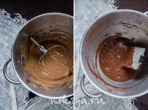 Шоколадное тесто для бисквита