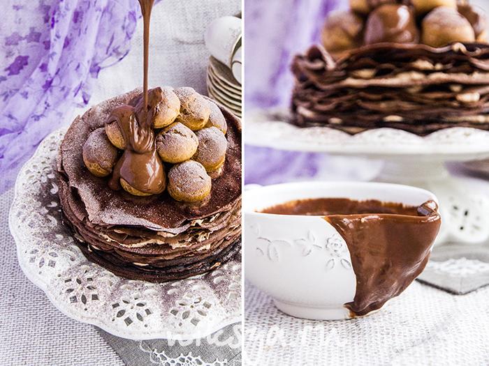 Как сделать шоколадный крем для блинов