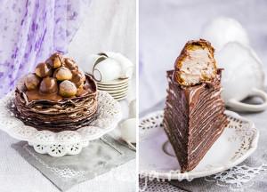 Торт с профитролями, шоколадный!