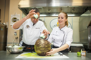 Шоколадная ваза с маршмеллоу