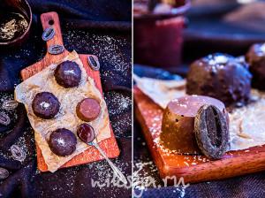 Кокосово-шоколадные конфеты с пралине
