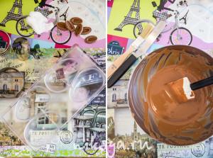Подготовка к работе с шоколадом