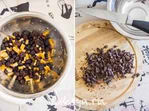 Сухофрукты и шоколад