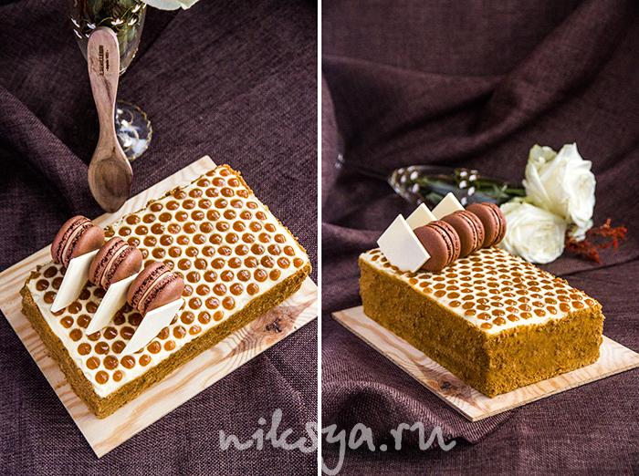 Как украсить медовые торты фото
