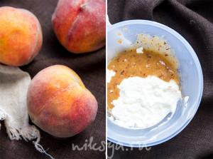 Персики и йогурт