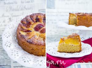Йогуртово-персиковый пирог