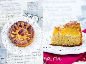 Персики и пирог