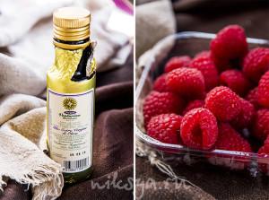 Оливковое масло и малина