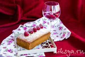 Лигурийский пирог с малиной