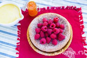 Ароматный пирог с грейпфрутом