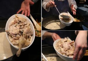 Фрикасе из курицы в нежнейшем сливочном соусе с грибами