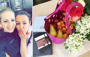 Нина Тарасова, Рая Савцова и корзина фруктов