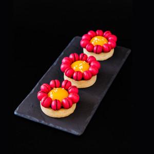 Мангово-малиновый тарт