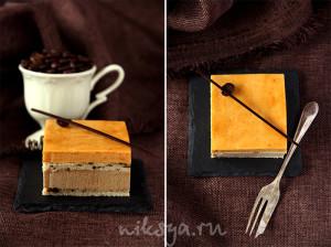 Кофейно-карамельное пирожное