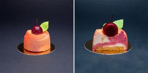 Пирожное «Вишня-персик»