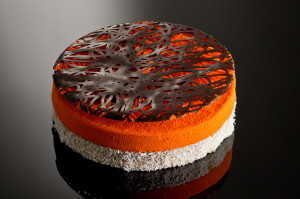 Pumpkin andcococonut tart
