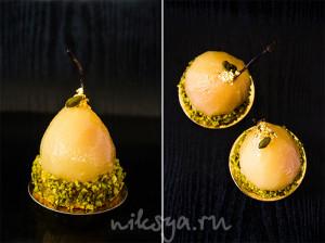 Тарталетки с пряными грушами