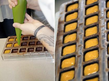 Работа с шоколадными корпусными конфетами